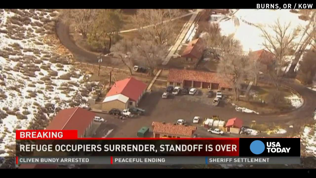 Oregon standoff ends as last protester surrenders