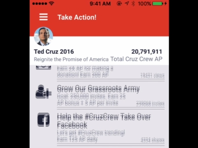 Protecting the privacy of law-abiding citizens from the government is a pillar of Ted Cruz's Republican presidential candidacy, but his campaign is testing the limits of siphoning personal data from supporters. (Feb. 11)