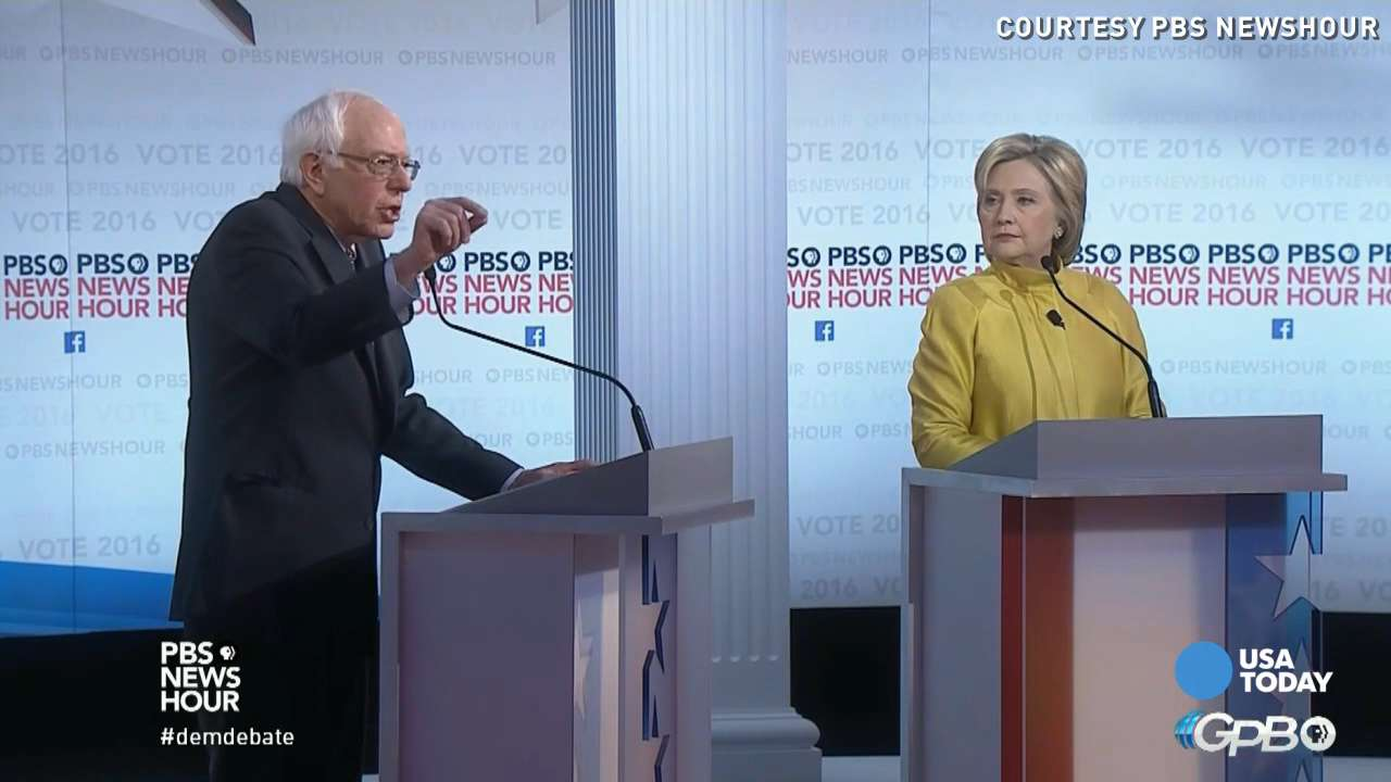 Sanders, Clinton clash during 6th Democratic debate