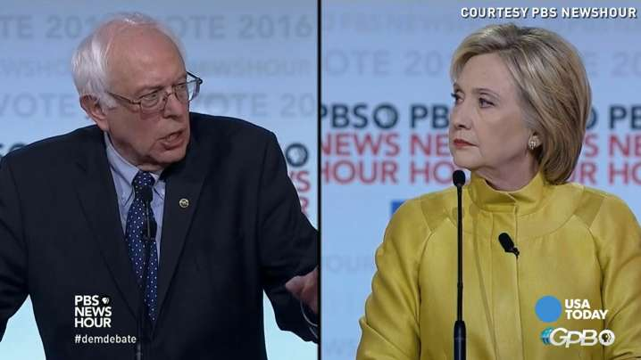 Hillary Clinton called out Bernie Sanders for critical comments he made about President Obama. Sanders had a quick and fierce comeback at the PBS NewsHour debate.
