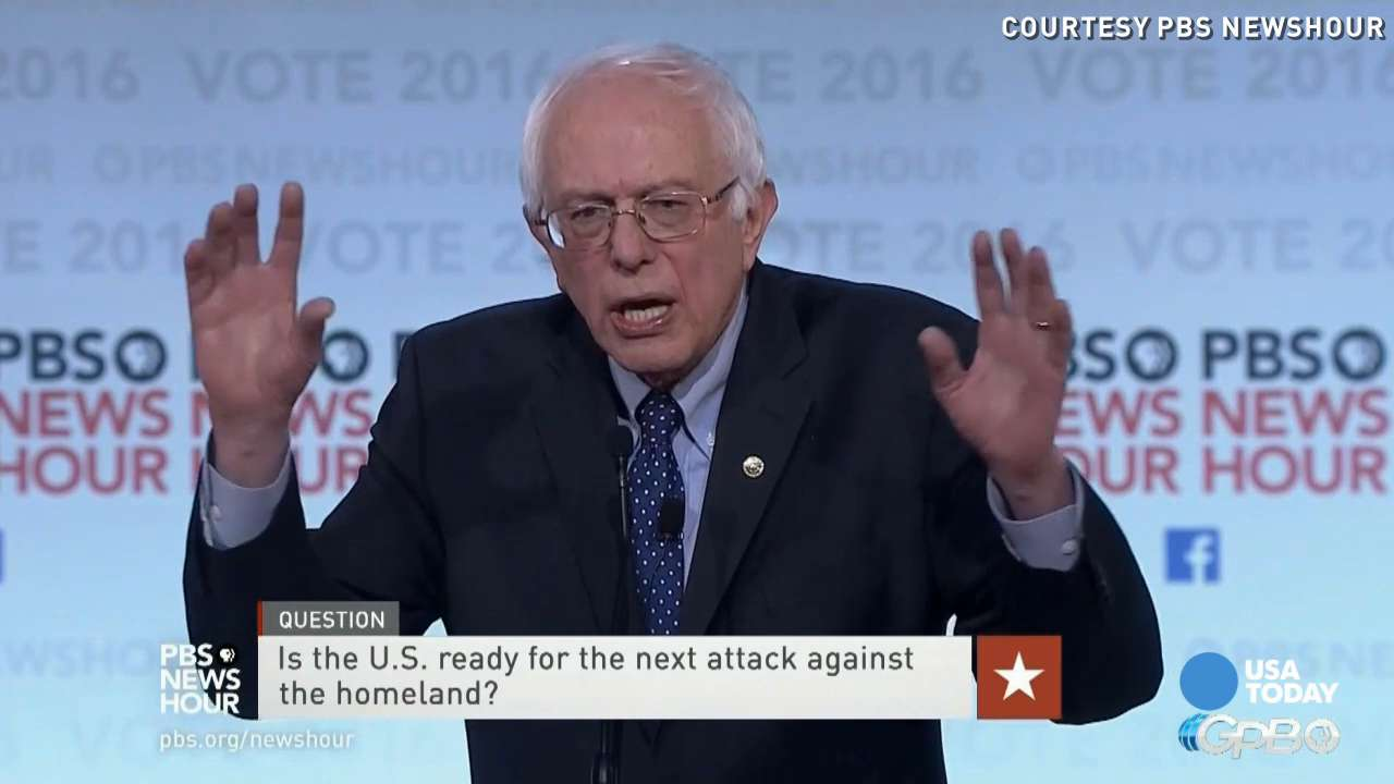 Bernie Sanders provided more details on his foreign policy stance while Hillary Clinton touched more on her views on gender and racial relations during the PBS NewsHour debate.