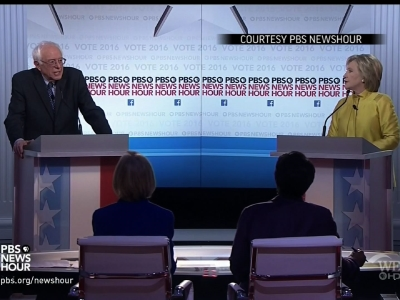 Hillary Clinton and Bernie Sanders clashed heatedly over their stances on Wall Street, which foreign policy experts they admire, and support for Barack Obama in Thursday night's Democratic debate. (Feb. 11)