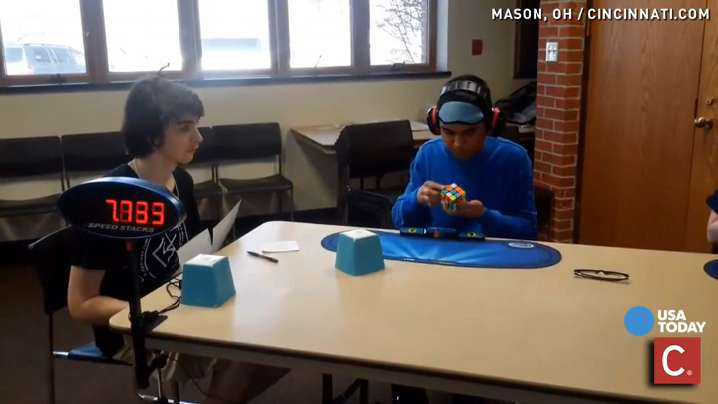 A high school student solved the mind-boggling Rubik's Cube, blindfolded no less, in under 30 seconds, breaking the U.S. record and making the rest of us question what we're doing with our lives.