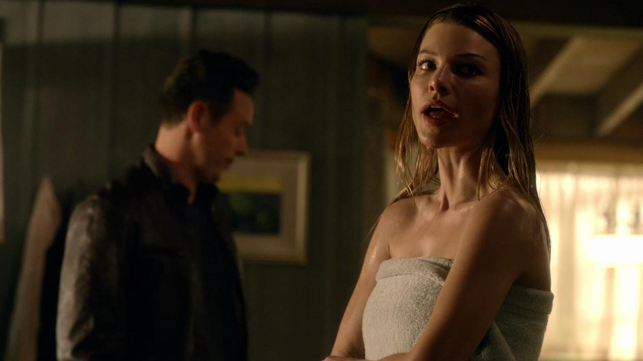"""Tom Ellis, Lauren German and Kevin Alejandro star in an exclusive clip from the Feb. 15 episode of """"Lucifer."""""""