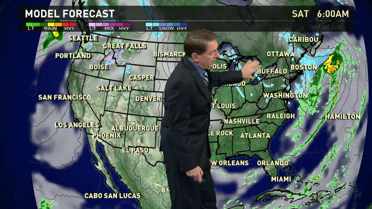 Saturday's forecast: Coldest air of season in the East