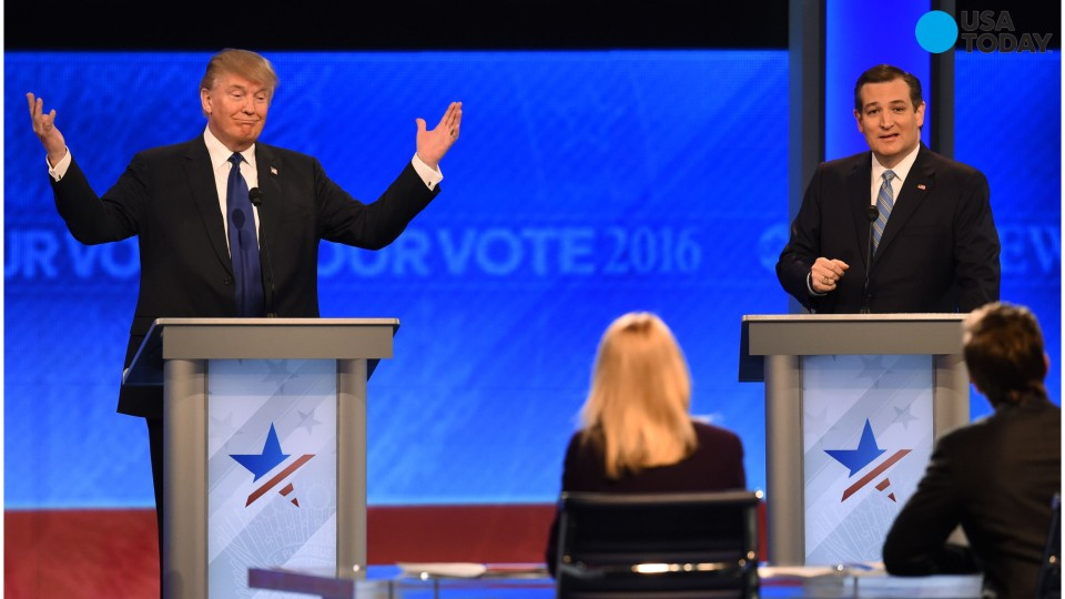 Cruz and Trump going at each other before debate