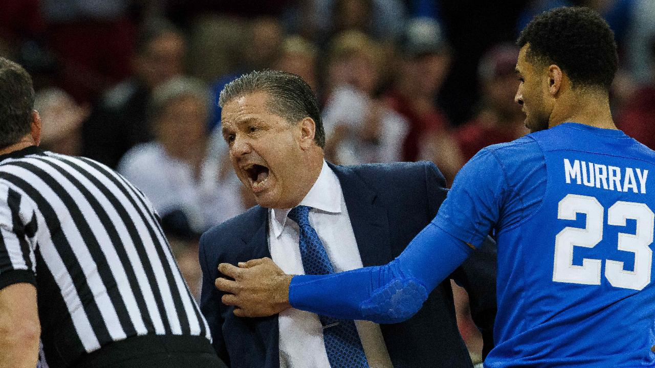 John Calipari received a double technical after just 2:26 seconds of play in Kentucky's game at South Carolina on Saturday afternoon.