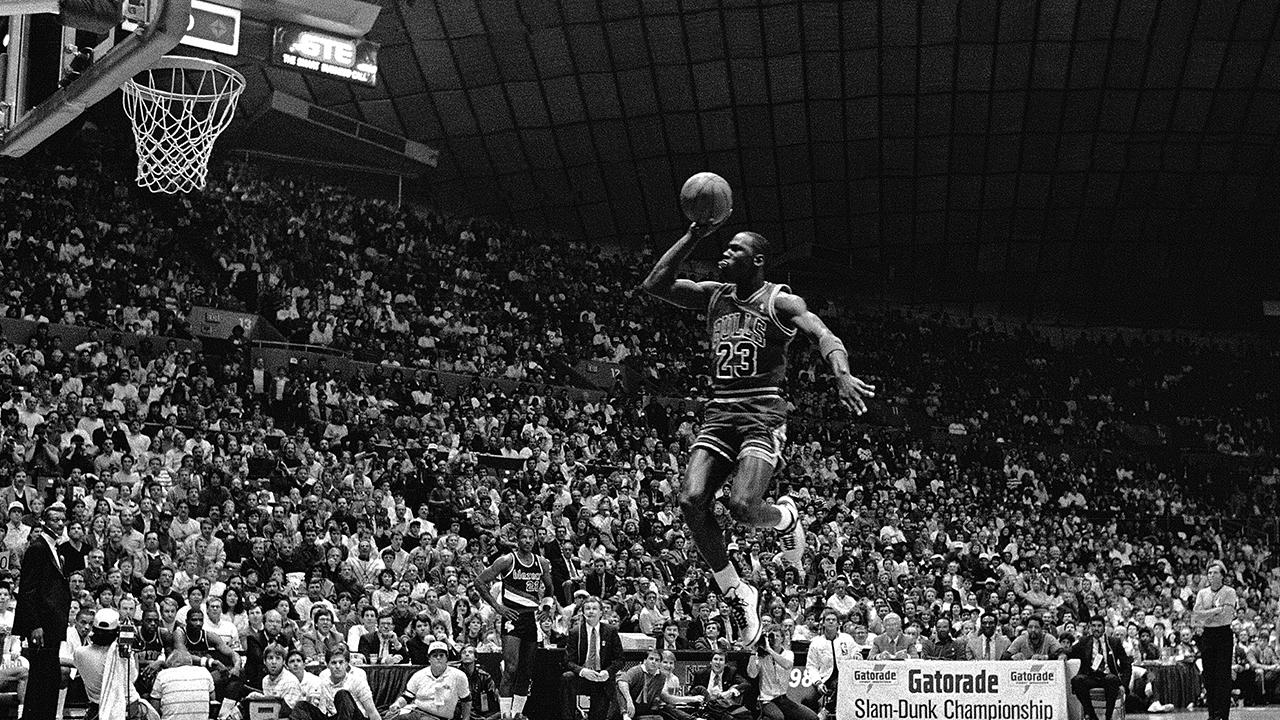 The NBA Slam Dunk Contest first debuted in the All-Star weekend festivities in 1984 and since then has featured some memorable moments from Michael Jordan, Nate Robinson, Dwight Howard and many others.