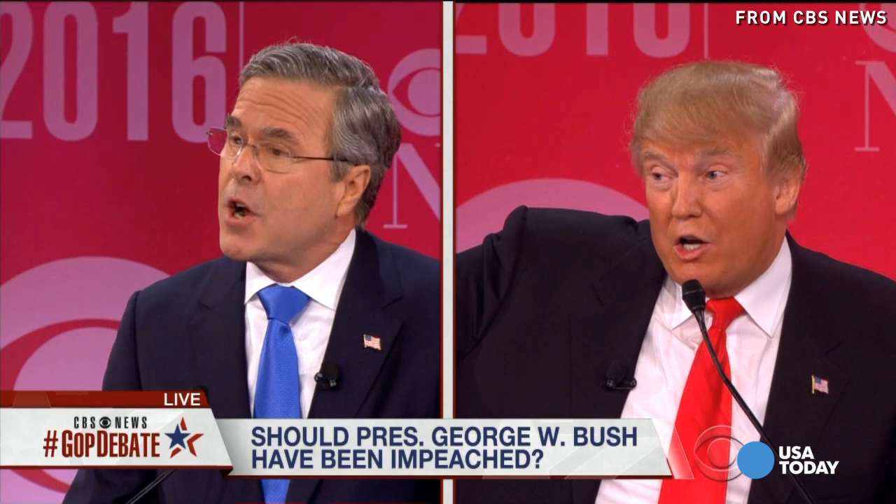 Republican candidates took jabs at each other in an intense debate hosted by CBS, and the feud between Jeb Bush and Donald Trump has moved well beyond simple clashes over policy.