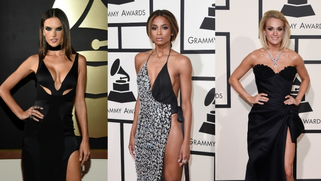 Black gowns slayed the 2016 Grammys red carpet