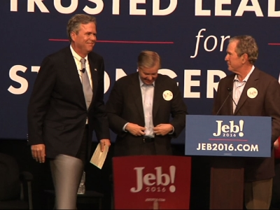 George W. Bush Stumps For Brother Jeb Bush