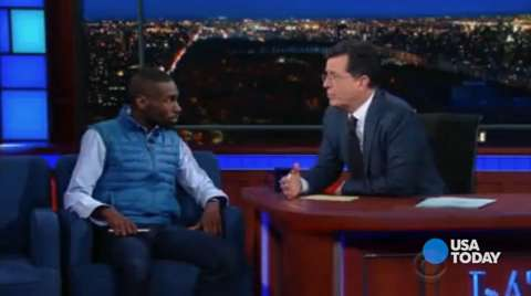 Black Lives Matter activist DeRay McKesson is now running for mayor of Baltimore. In January, he spoke to Stephen Colbert about the movement, black struggles and police brutality.