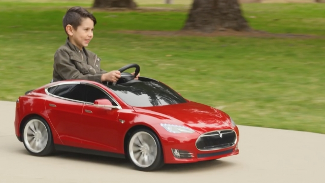 Can't afford a Tesla? Get a mini one for your kids!