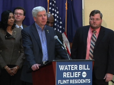 Michigan Governor OKs $30M For Flint Water Bills