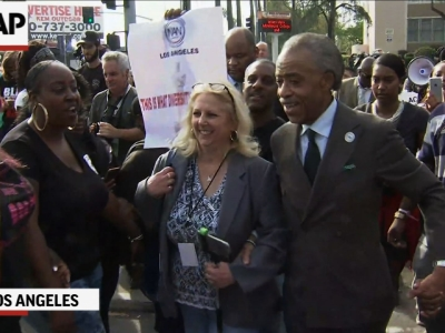 Rev. Sharpton Leads Protest for Oscar Diversity