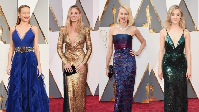 The Oscar red carpet shined like the gold everyone dreams