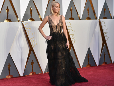 The Oscar Fashion of Stars Like JLaw and Gaga