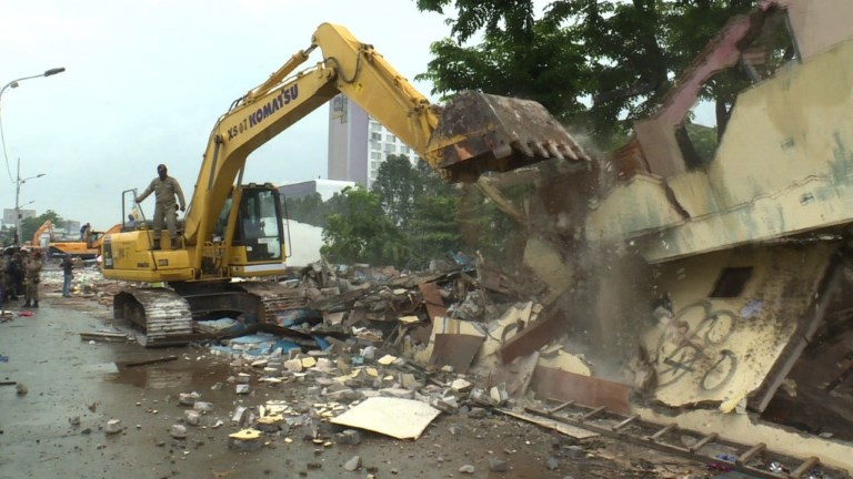 Infamous Jakarta red-light district razed to the ground
