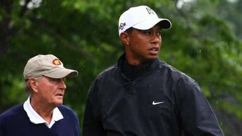 Jack Nicklaus spoke with Tiger at a recent dinner and thought that Woods 'looked very healthy'.