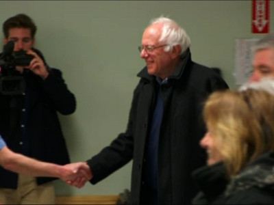 Sen. Bernie Sanders Casts His Super Tuesday Vote