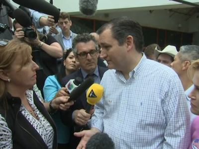 Sen. Ted Cruz Casts His Super Tuesday Vote