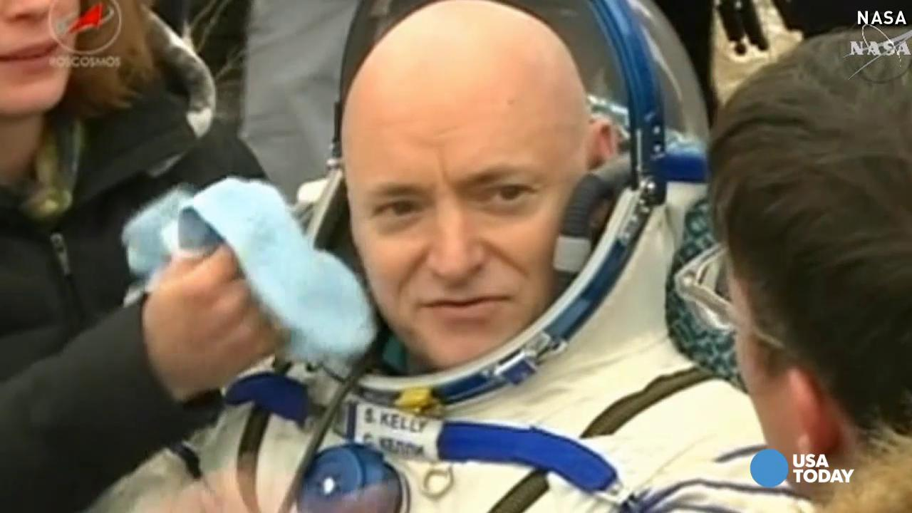 After 340 days, astronaut Scott Kelly back on Earth