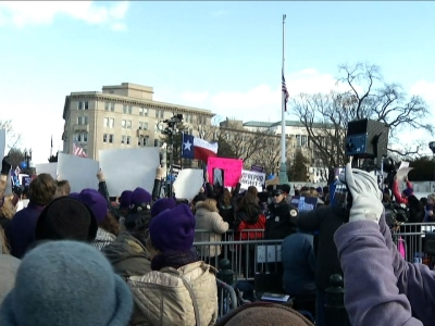 Raw: Abortion-Rights Advocates Rally At SCOTUS