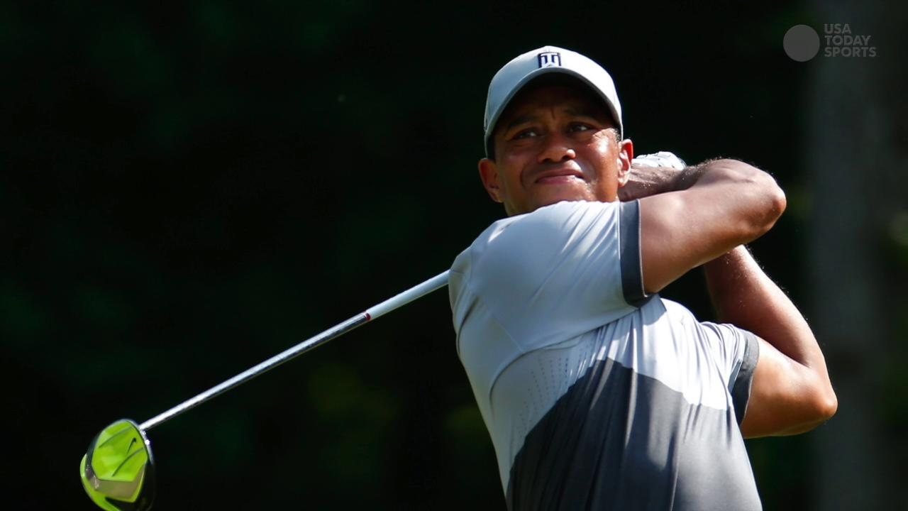 Tiger Woods said that while he is practicing chipping and putting, he has set no timetable for a return.