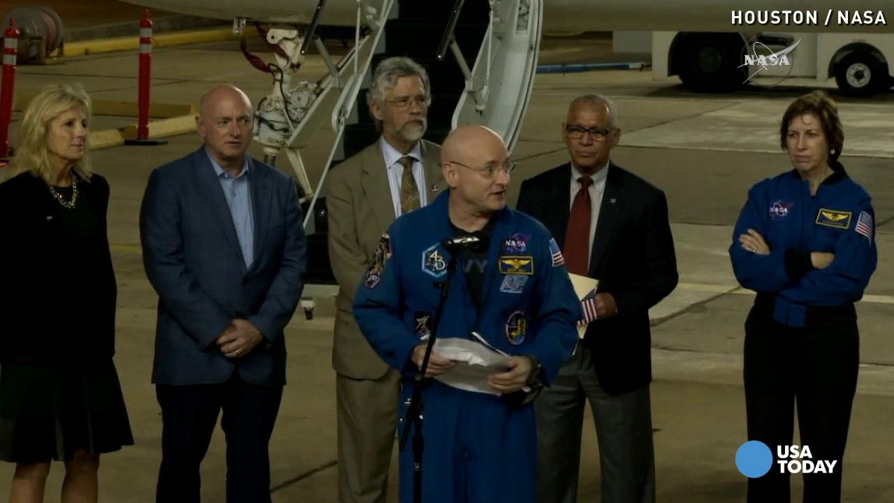 Scott Kelly back in TX: 'This is NASA's achievement'