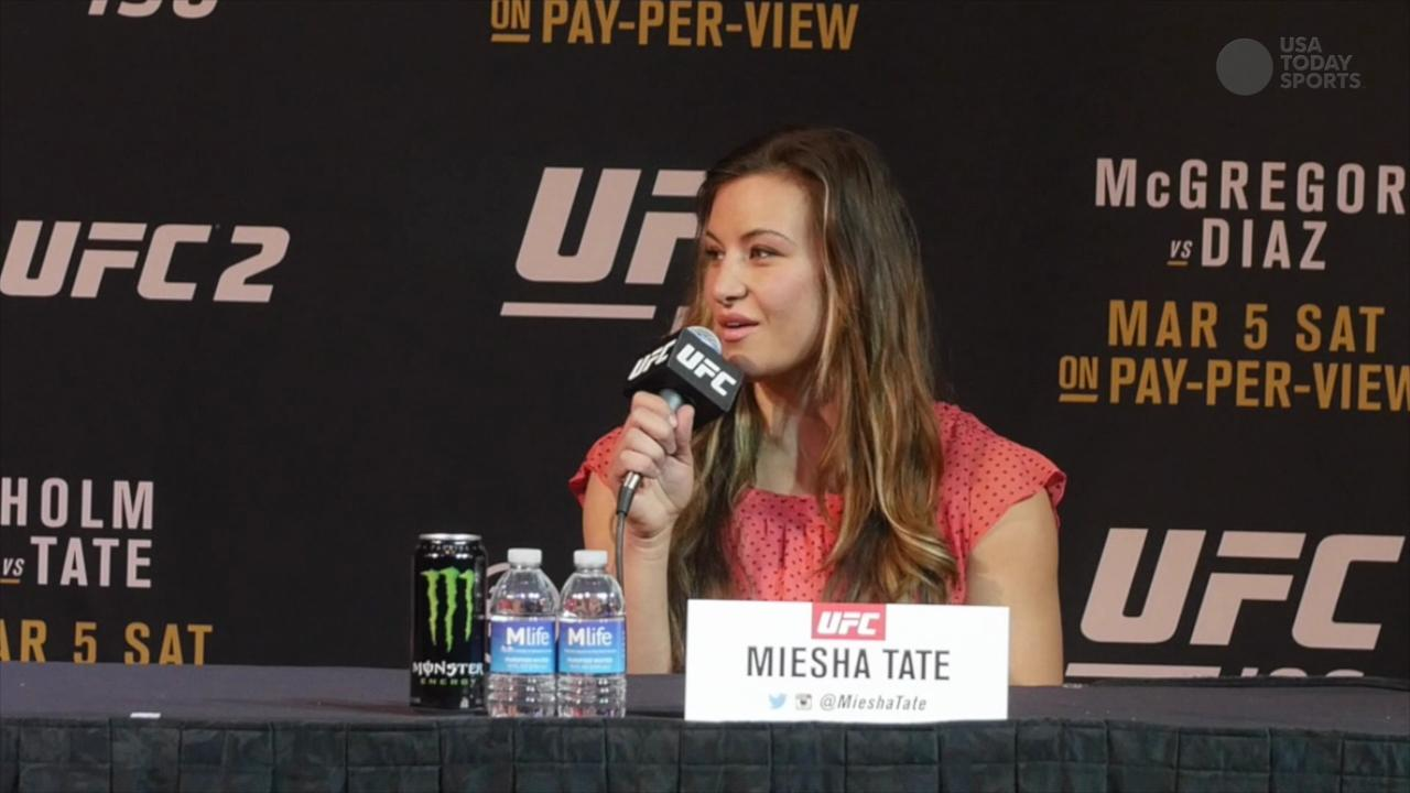 UFC bantamweight champion Holly Holm has a pleasant press conference with opponent Meisha Tate ahead of UFC 196.