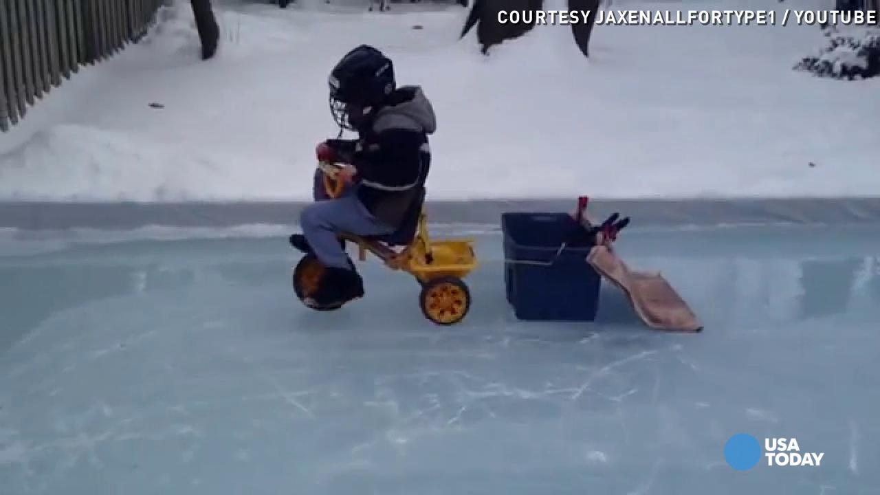 zamboni kid won u0027t stand for scratched up ice rink