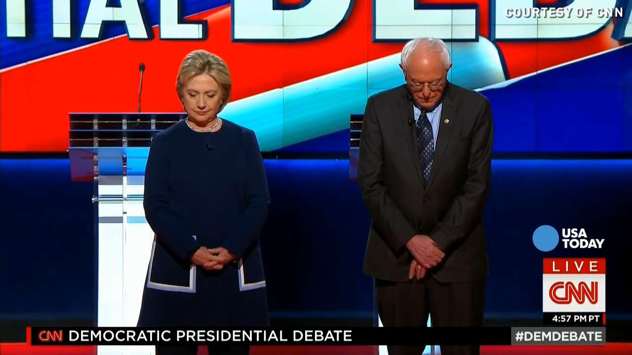 Moment of silence held for Nancy Reagan during debate