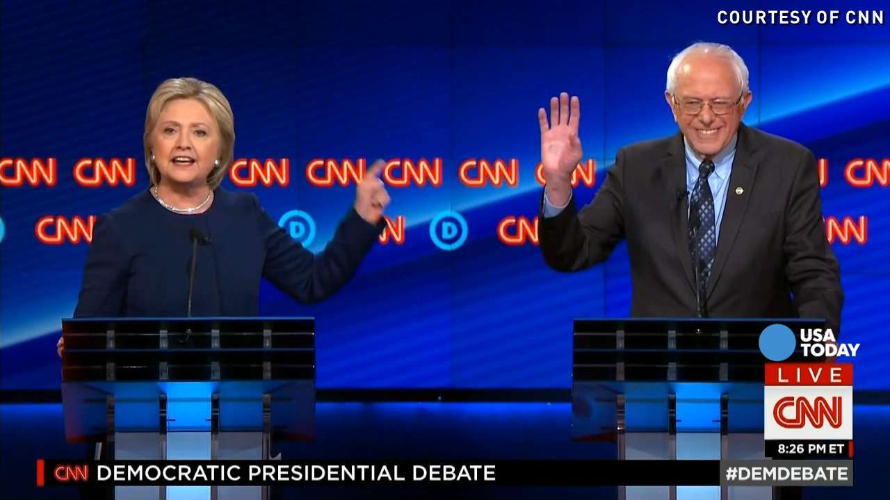 Watch the sassiest moments of the CNN Democratic debate
