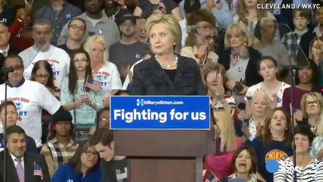 Clinton says election is about 'results' not 'insults'