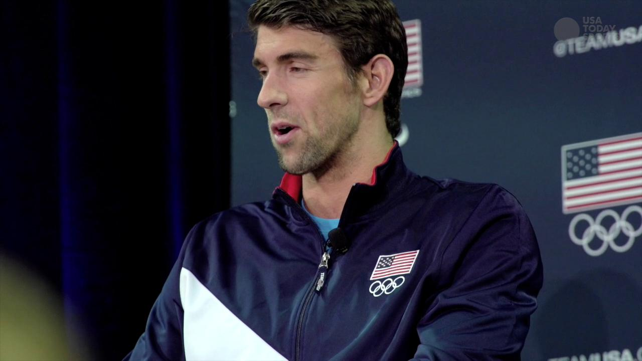 22-time Olympic medalist Michael Phelps opened up about his family and career at the USOC Media Summit in Los Angeles.