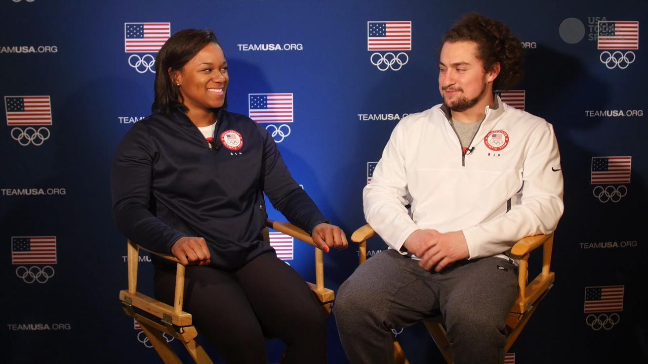 Olympians Jenny Arthur and Norik Vardanian spoke with USA TODAY Sports about the improbable place their relationship began.
