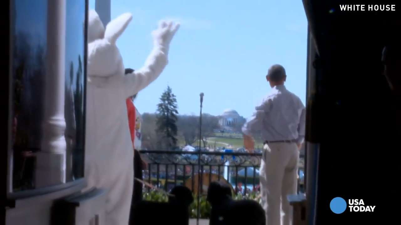 The Easter Bunny isn't the only VIP at this egg hunt