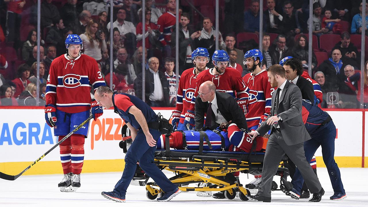 P.K. Subban carted off ice on stretcher