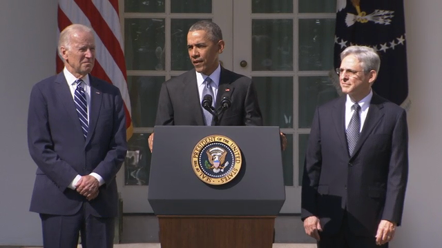 Obama Introduces Garland as High Court Nominee