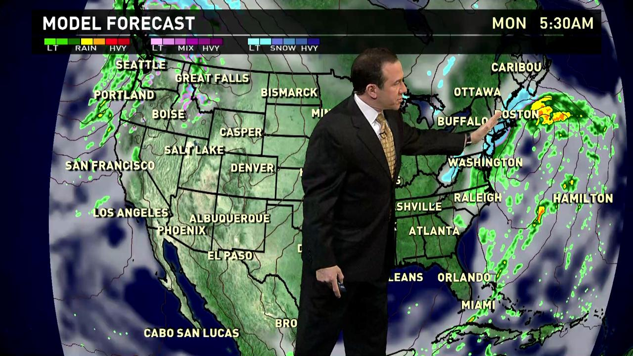 Sunday's forecast: Rain, Snow in Mid-Atlantic