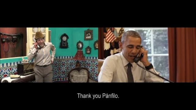 'Que bola' Obama swaps jokes with Cuban comedian