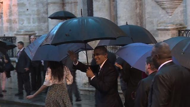 'What's up Cuba?' Obama starts historic visit
