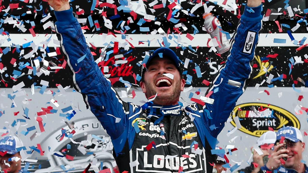 Jimmie Johnson took home another victory Sunday, putting him ahead of Dale Earnhardt Sr. on the the all-time wins list.