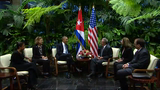 Raw: Obama, Castro's Historic Bilateral Meeting