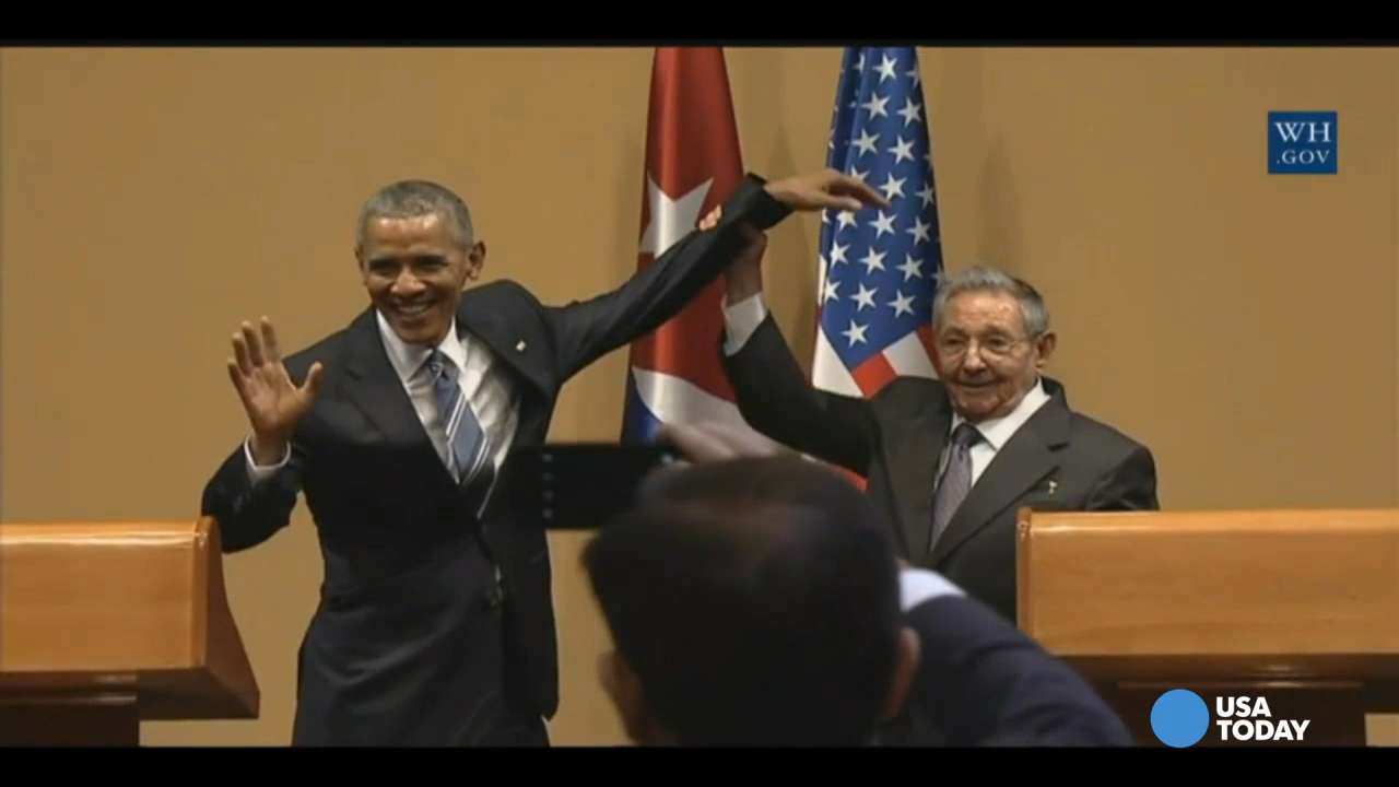 Obama and Castro's incredibly awkward moment