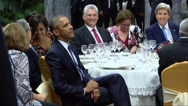 Castro Hosts State Dinner for Obamas