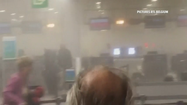 Raw: Inside Brussels airport and subway attacks