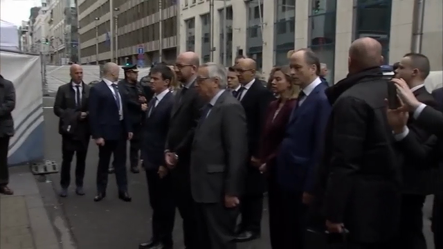 Raw: EU Lawmakers Pay Respects In Belgium