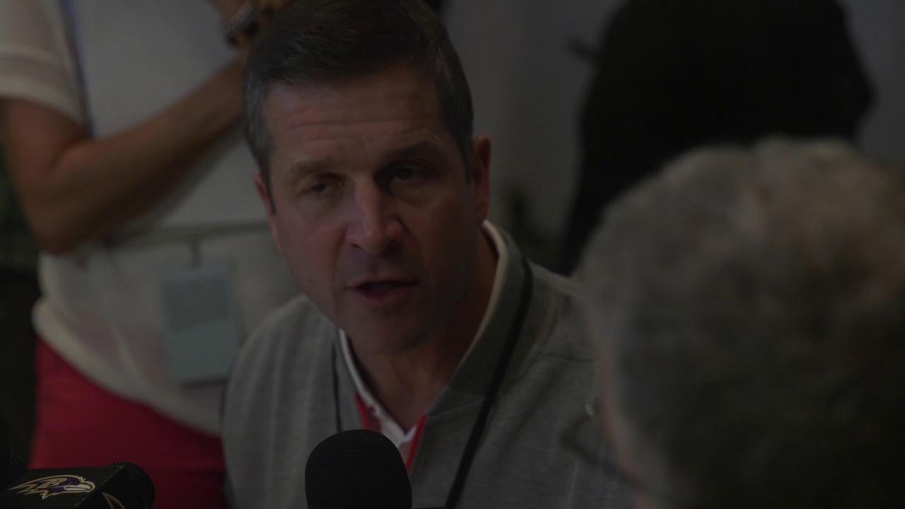 John Harbaugh defends the NFL and the game of football