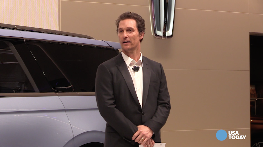 Matthew McConaughey surprises crowd at NY Auto Show